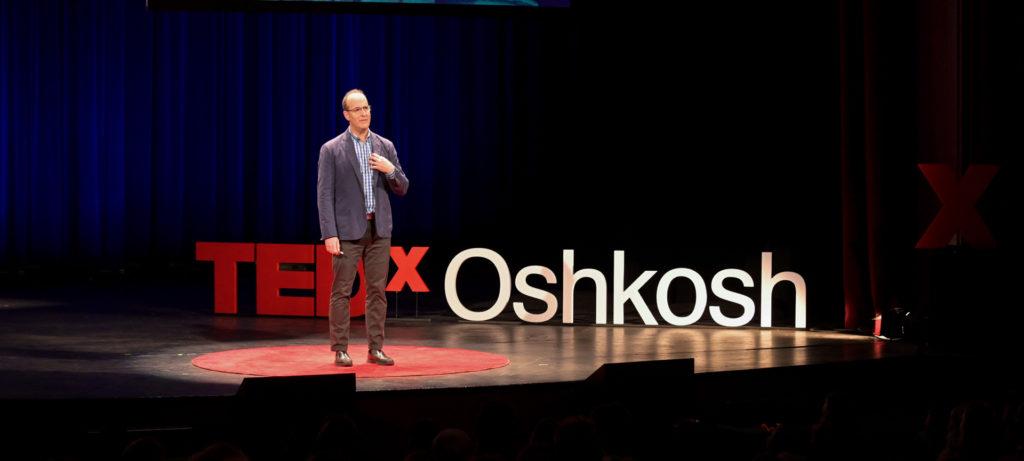 keynote speaker Scott Lesnick at TEDx Oshkosh